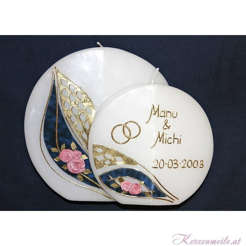 Hochzeitskerze Bellevue 3 Hochzeitskerzen-klassisch elegant