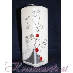 Hochzeitskerze Queen of Roses Hochzeitskerzen-modern