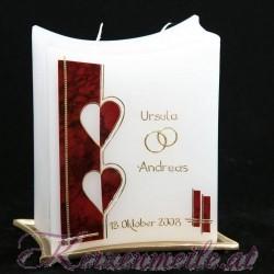 Hochzeitskerze Herz im Spiegel 1 Hochzeitskerzen-modern