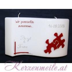 Hochzeitskerze Puzzleteile 1 Hochzeitskerzen-modern