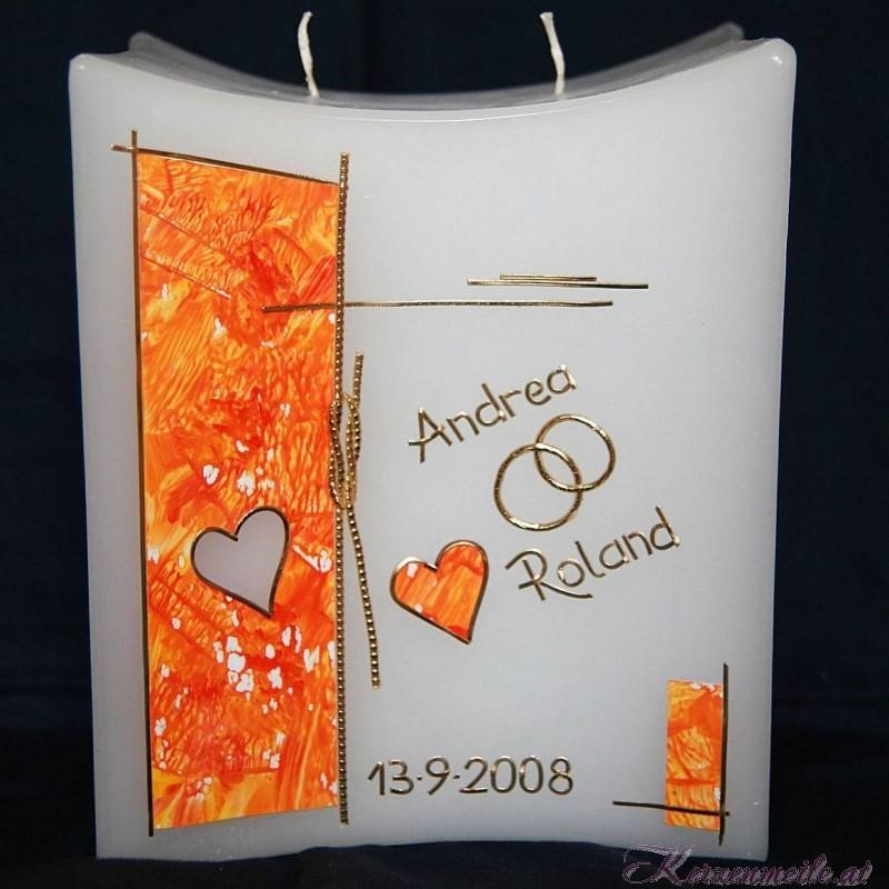 Hochzeitskerze Port Love 3 Hochzeitskerzen-modern