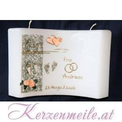 Hochzeitskerze Gemeinsamer Weg Rosen Hochzeitskerzen-modern