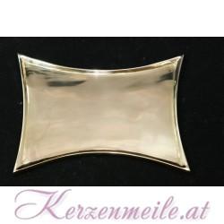 Kerzenteller Konkav Gold