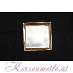 Kerzenteller Schweiz Silber/Gold