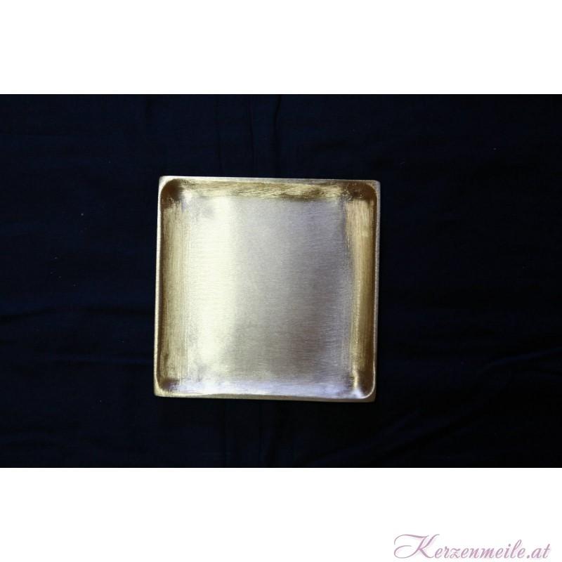 Kerzenteller Deutschland Gold/Silber