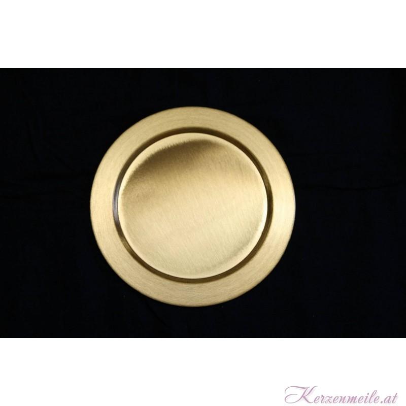 Kerzenteller Polen Gold
