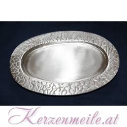 Kerzenteller Krakelee Silber