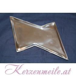 Kerzenteller Doppeldreieck Silber