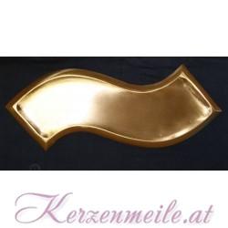 Kerzenteller Welle Gold