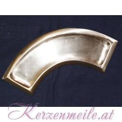 Kerzenteller Bogen Silber