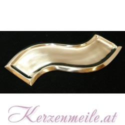 Kerzenteller Welle Gold 2