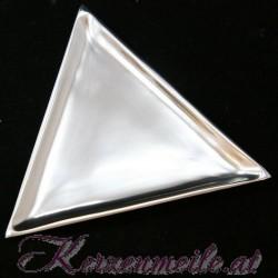 Kerzenteller Dreieck Silber