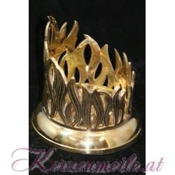 Kerzenteller Flamme Gold
