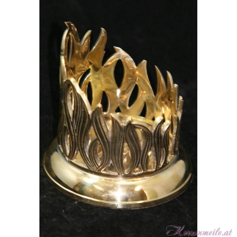 Kerzenteller Flamme Gold Kerzenteller/Zubehör