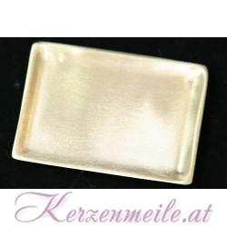 Kerzenteller Rechteck Gold