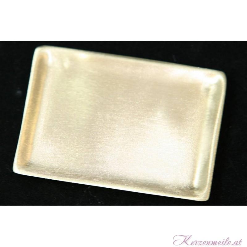 Kerzenteller Rechteck Gold Kerzenteller/Zubehör