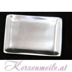 Kerzenteller Rechteck Silber
