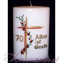 Kerze Alles ist Gnade
