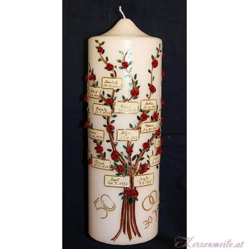 Stammbaumkerze 4 Stammbaum-Kerzen