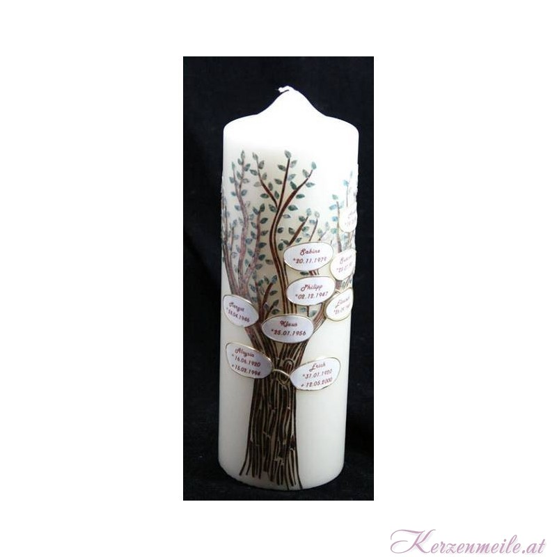 Stammbaum Stammbaum-Kerzen