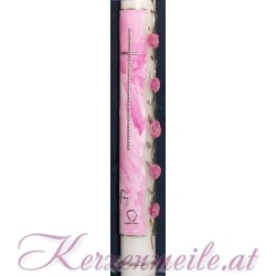 Taufkerze Rosen aus Tirol Taufkerzen-exklusiv