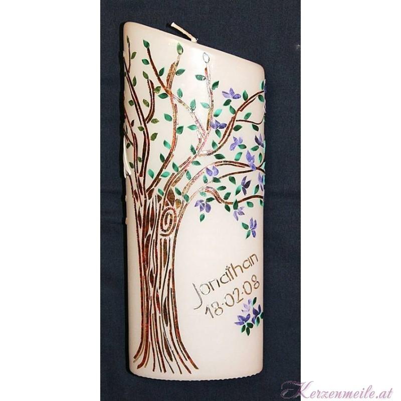 Kerze Lebensbaum Vier Jahreszeiten 3 Geburts- u. Lebenskerzen