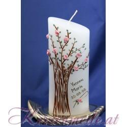 Kerze Rosenbaum Geburts- u. Lebenskerzen