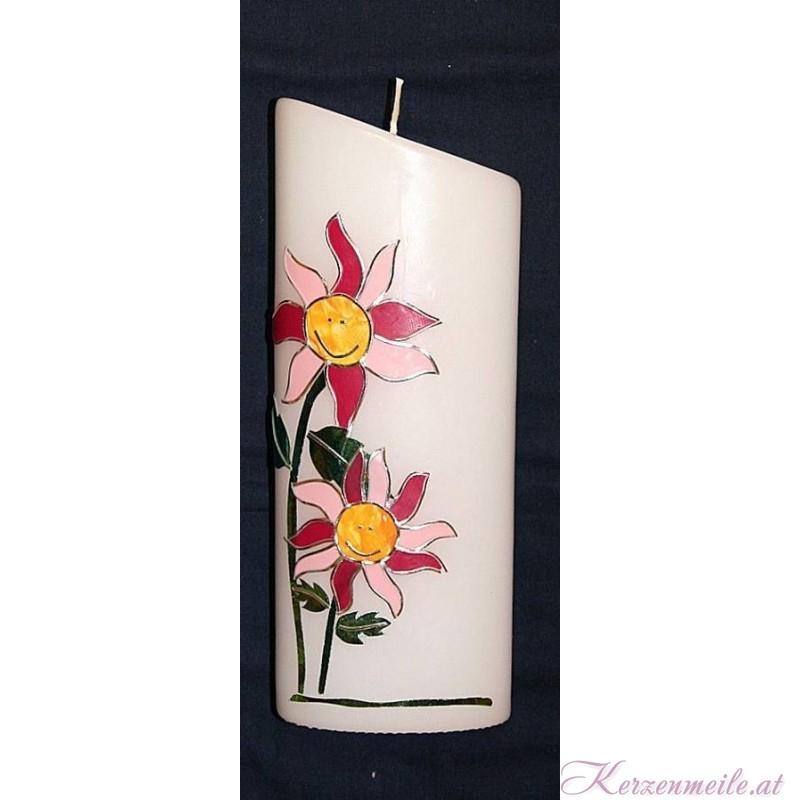 Kerze Blumenkind Geburts- u. Lebenskerzen