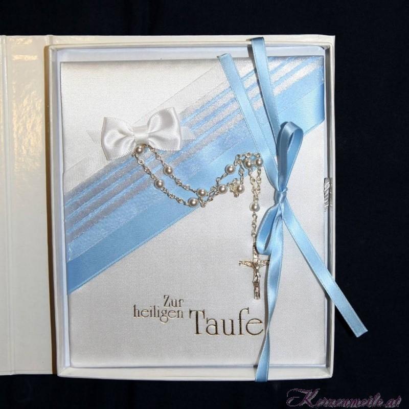 Taufbrief Kreuz blau