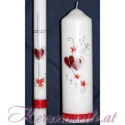 Kerzenset Herz Taufkerzensets