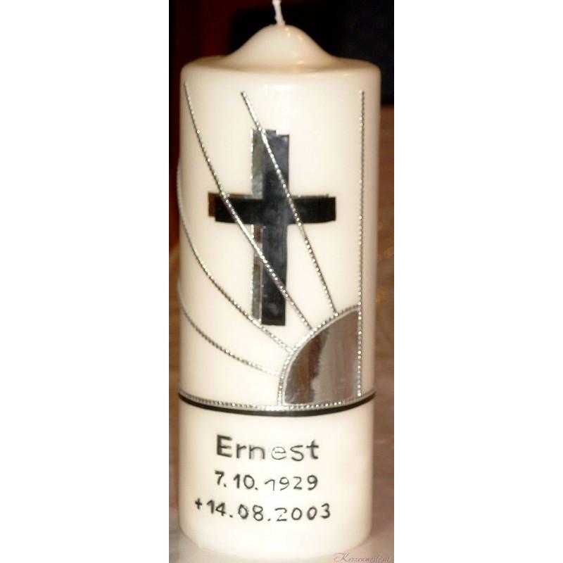 Trauerkerze Schattenkreuz Trauerkerzen und Gedenkkerzen