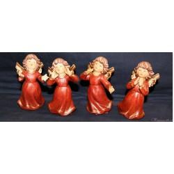 Kleines Weihnachtsengerl aus Keramik - Rot