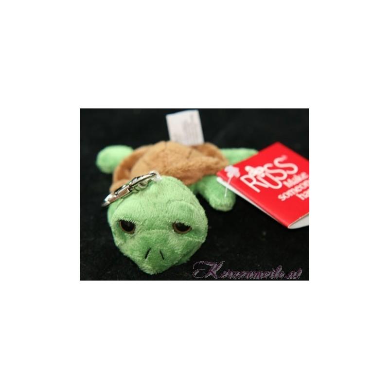 Schlüsselanhänger Grüne Schildkröte Plüschtiere-Russ Berrie UK Collection