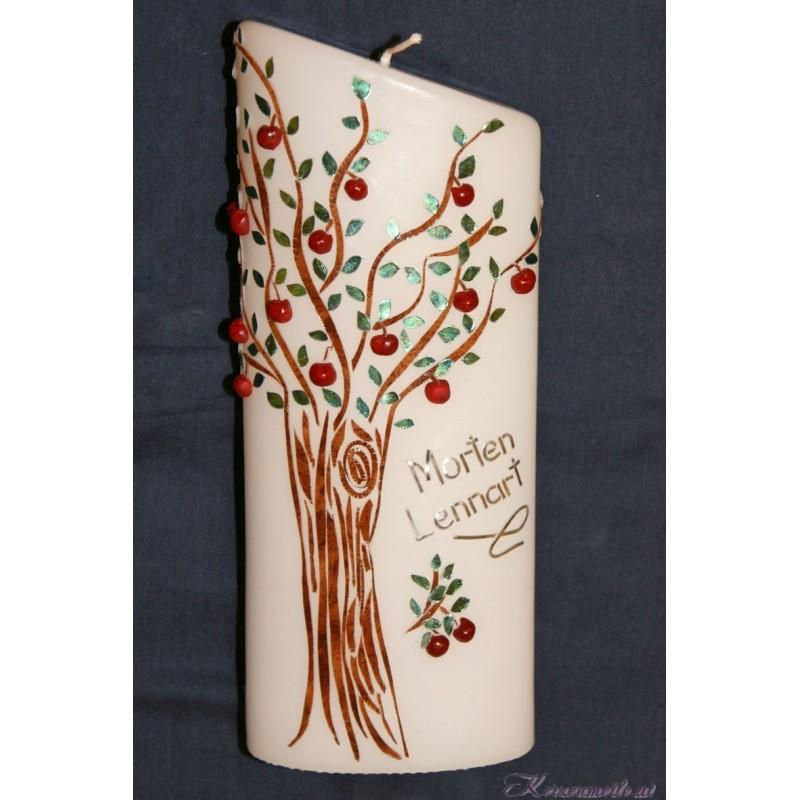 Kerze Apfelbaum Taufkerzen-exklusiv