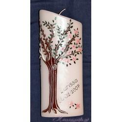 Kerze Lebensbaum Vier Jahreszeiten 1 Taufkerzen-exklusiv