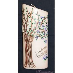 Kerze Lebensbaum Vier Jahreszeiten 3