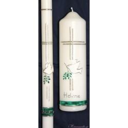 Taufkerze Friedenstaube Taufkerzen-klassisch elegant