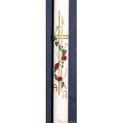 Taufkerze Rosenprinzessin Taufkerzen-klassisch elegant
