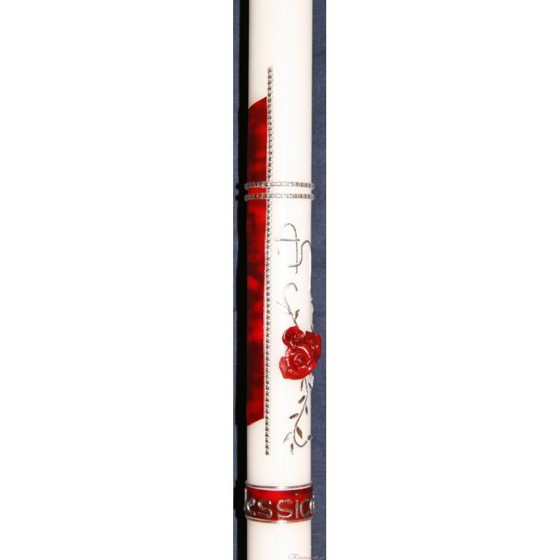 Taufkerze Rosenträume Taufkerzen-klassisch elegant
