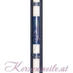 Taufkerze Blue Iris