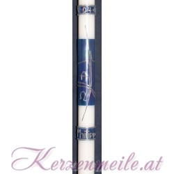 Taufkerze Blue Iris Taufkerzen-modern