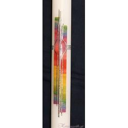 Taufkerze Rainbow Taufkerzen-modern