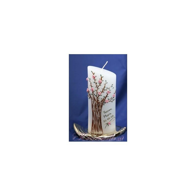 Kerze Rosenbaum Taufkerzen-exklusiv