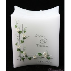 Hochzeitskerze Roses of Snow Hochzeitskerzen-klassisch elegant