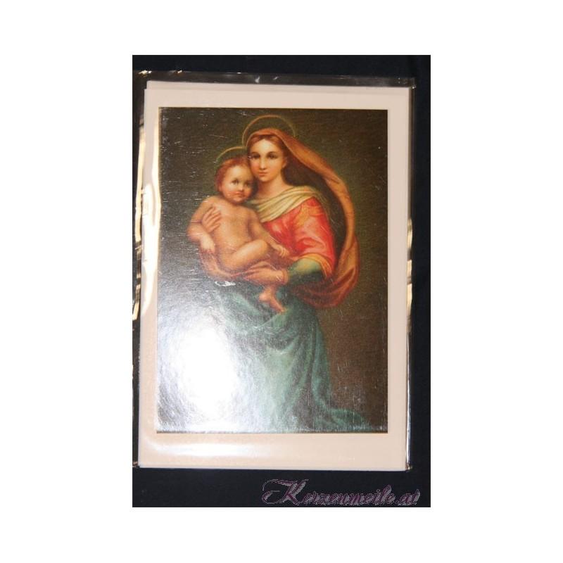 Billet Heilige Maria mit Kind