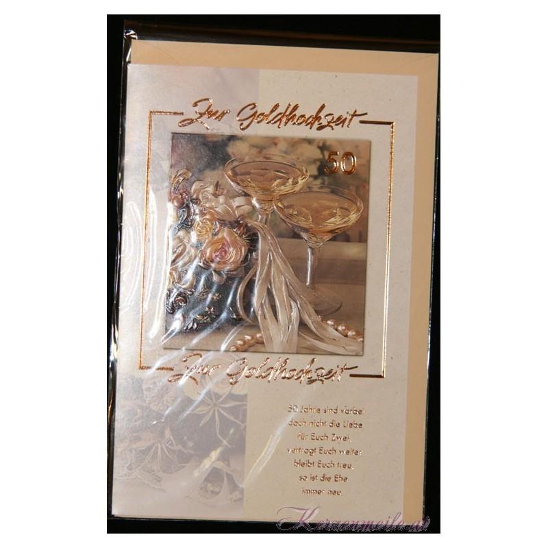 Billet zur Goldenen Hochzeit