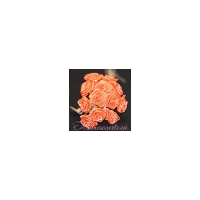 Satinröschen apricot Gaesteanstecker selber basteln