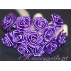 Satinröschen violett Gaesteanstecker selber basteln