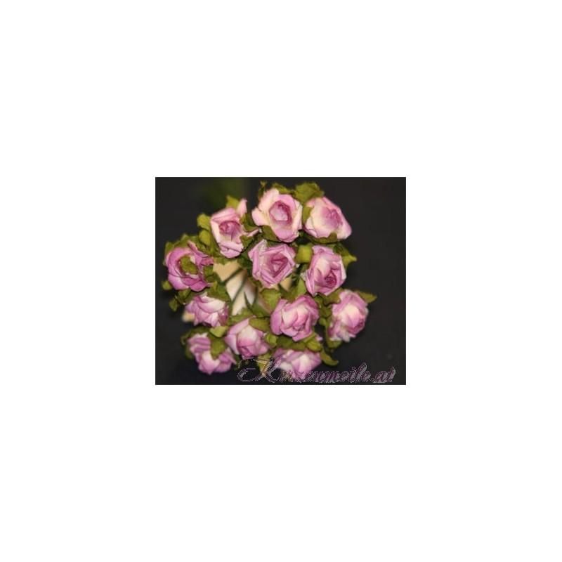 Röschen lila Gaesteanstecker selber basteln