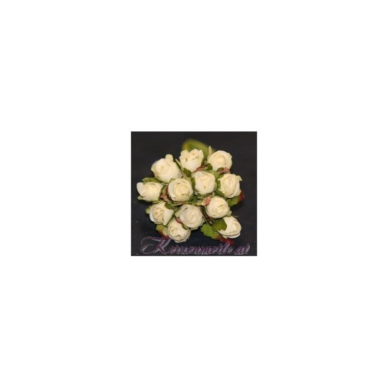 Röschen mit Blatt creme